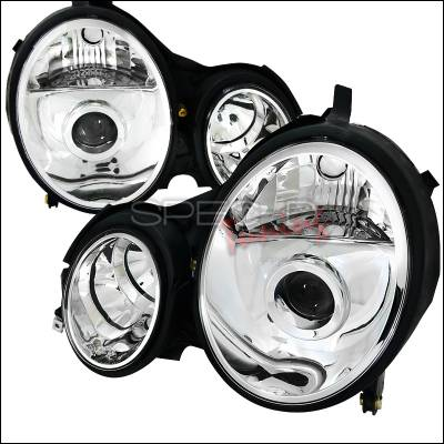 Spec-D - Mercedes-Benz E Class Spec-D Projector Headlights - Chrome Housing - LHP-BW21000-APC