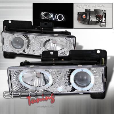 Spec-D - Chevrolet C10 Spec-D Projector Headlights - Chrome - LHP-C1088-WJ
