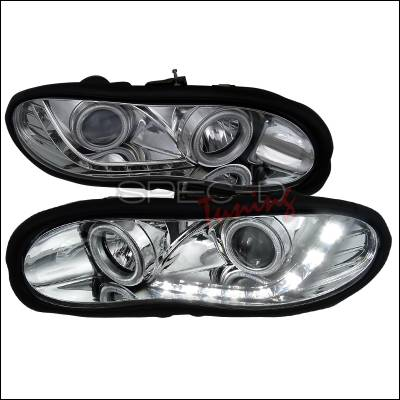 Spec-D - Chevrolet Camaro Spec-D R8 Style Projector Headlights - Chrome Housing - LHP-CMR98-8-APC