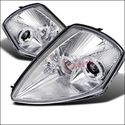 Spec-D - Mitsubishi Eclipse Spec-D Halo Projector Headlights - Chrome Housing - LHP-ELP00-ABM