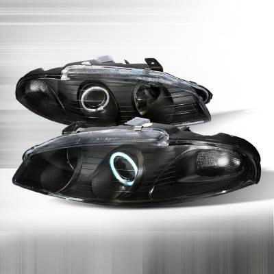 Spec-D - Mitsubishi Eclipse Spec-D Halo Projector Headlights - Black - LHP-ELP97JM-KS