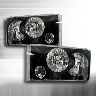 Spec-D - Ford F250 Superduty Spec-D Projector Headlights - Black - LHP-F25099JM-APC