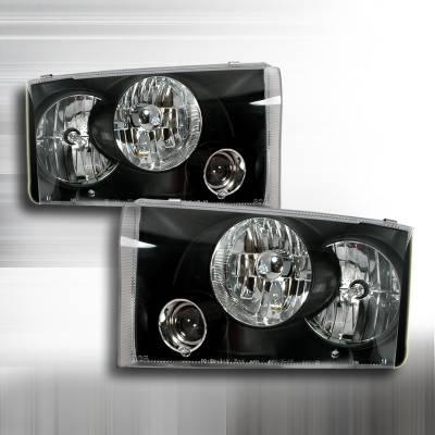 Spec-D - Ford F350 Superduty Spec-D Projector Headlights - Black - LHP-F25099JM-APC