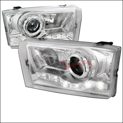 Spec-D - Ford F250 Spec-D LED Projector Headlights - Chrome Housing - LHP-F25099-RS