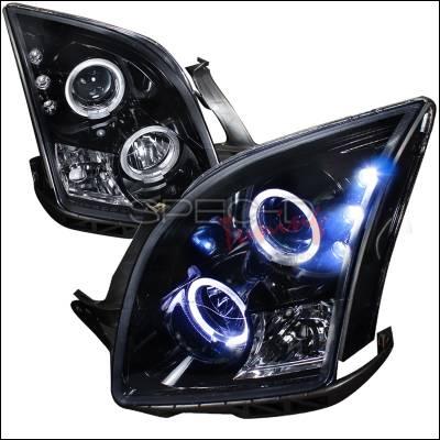 Spec-D - Ford Fusion Spec-D Projector Headlight Gloss - Black Housing - Smoke Lens - LHP-FUS06G-TM