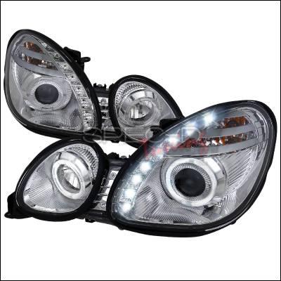 Spec-D - Lexus GS Spec-D Halo Projector Headlights - Chrome - LHP-GS30098-RS