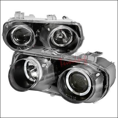 Spec-D - Acura Integra Spec-D Halo Projector Headlights - Black - LHP-INT94JM-KS