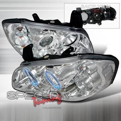 Spec-D - Nissan Maxima Spec-D Halo Projector Headlights - Chrome - LHP-MAX00-KS