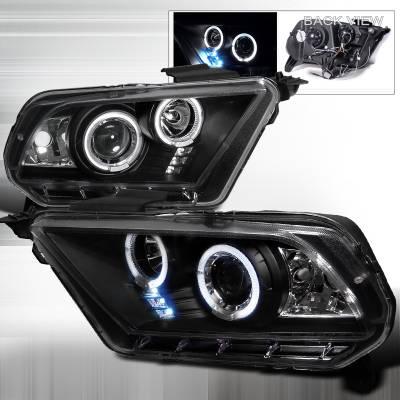 Spec-D - Ford Mustang Spec-D Projector Headlights - LHP-MST10JM-TM