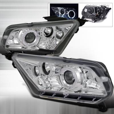 Spec-D - Ford Mustang Spec-D Projector Headlights - LHP-MST10-TM