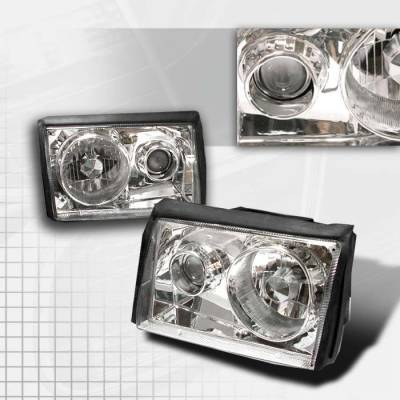 Spec-D - Ford Mustang Spec-D Projector Headlights - Chrome - LHP-MST87-APC