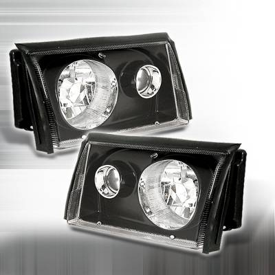 Spec-D - Ford Mustang Spec-D Projector Headlights - Black - LHP-MST87JM-APC