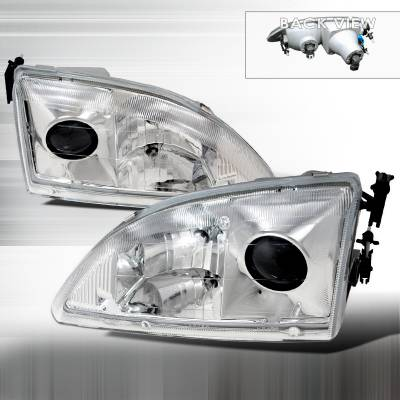 Spec-D - Ford Mustang Spec-D Projector Headlights - Chrome - LHP-MST95-APC
