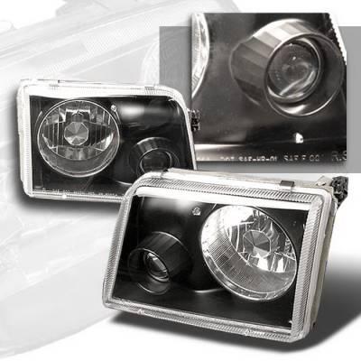 Spec-D - Ford Ranger Spec-D Projector Lights - Black - LHP-RAN93JM-APC