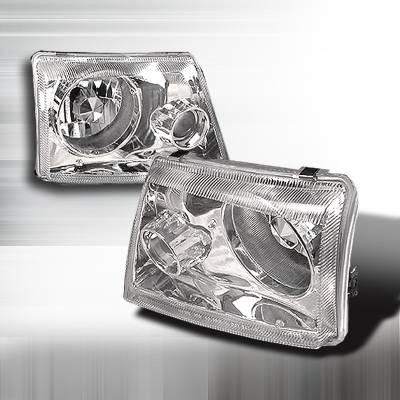 Spec-D - Ford Ranger Spec-D Projector Lights - Chrome - LHP-RAN98-APC