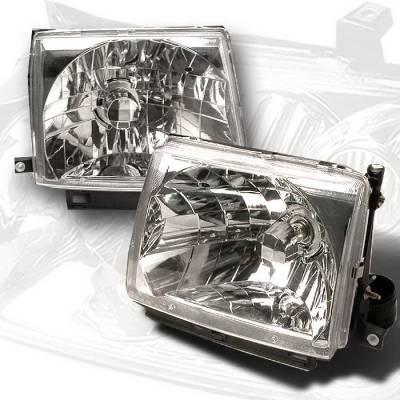 Spec-D - Toyota Tacoma Spec-D Crystal Housing Headlights - Chrome - LH-TAC97-KS