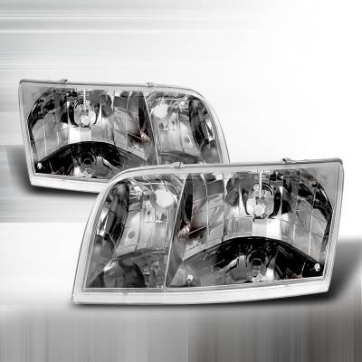 Spec-D - Ford Crown Victoria Spec-D Crystal Housing Headlights - Chrome - LH-VIC98-APC