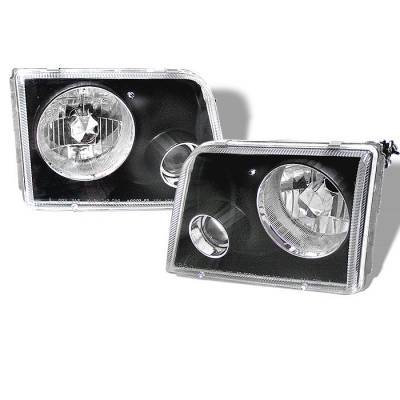 Spyder - Ford Ranger Spyder Projector Headlights - Black - PRO-APC-FR93-BK