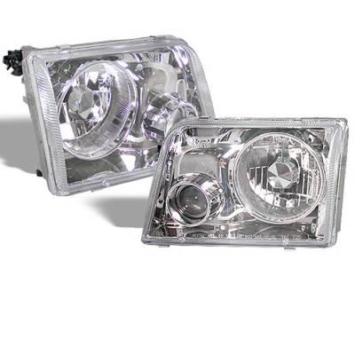 Spyder - Ford Ranger Spyder Projector Headlights - Chrome - PRO-APC-FR93-C
