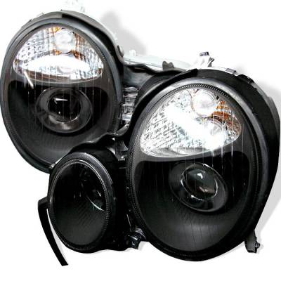 Spyder - Mercedes-Benz E Class Spyder Projector Headlights - Black - PRO-CL-MW21095-BK