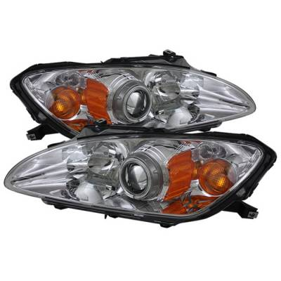 Spyder Auto - Honda S2000 Spyder CCFL Amber Headlights - Chrome - PRO-ON-HS2K04-CCFL-AM-C