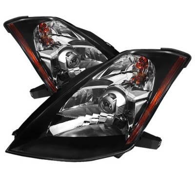 Spyder Auto - Nissan 350Z Spyder OEM Style Projector Headlights - Black - PRO-ZO-N350Z03-BK