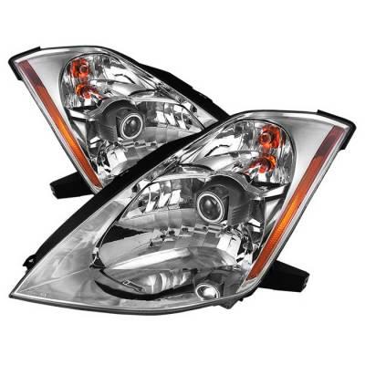 Spyder Auto - Nissan 350Z Spyder OEM Style Projector Headlights - Chrome - PRO-ZO-N350Z03-C