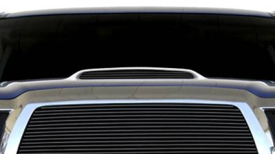T-Rex - Toyota Tacoma T-Rex Billet Hood Scoop Insert - 4 Bars - All Black - 1PC - 20897B