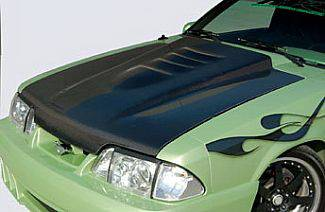 Street Scene - Ford Mustang Street Scene Cowl Induction Style Hood - Carbon Fiber - 950-72141