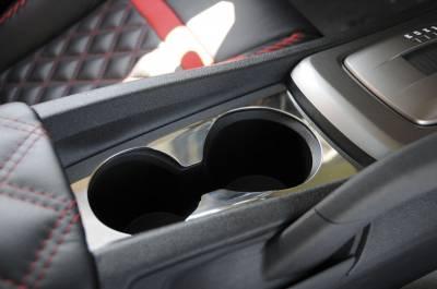 T-Rex - Chevrolet Camaro T-Rex T1 Interior Center Console Cup Holder Trim - Chrome - 110282
