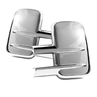 Spyder - Chevrolet Silverado Spyder Mirror Cover without Signal hole - Chrome - CA-MC-CSHD250007-NS