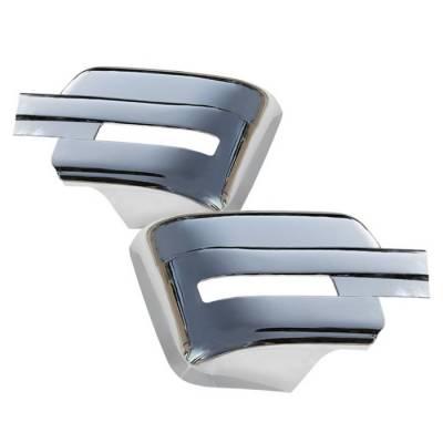 Spyder - Ford F150 Spyder Chrome Mirror Cover no Signal Hole - CA-MC-FF15009-NS