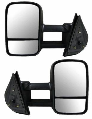 Suvneer - Chevrolet Silverado Suvneer Standard Extended Power & Heated Towing Mirrors with Split Glass & Turn Signal - Left & Right Side - CVE6-9410-F0