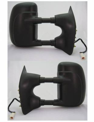 Suvneer - Ford F350 Suvneer Standard Extended Towing Mirror with Turn Signal & Dual Pivoting Arms - Textured Cover - Left & Right Side - FDS0-9410-K0
