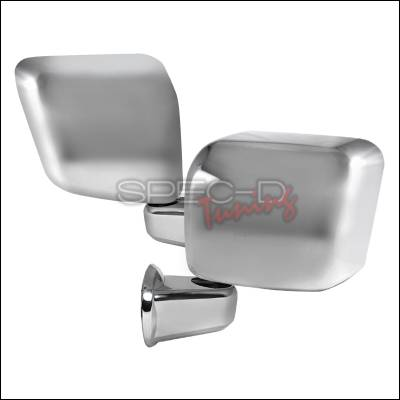 Spec-D - Jeep Wrangler Spec-D Side Mirror Cover - Chrome - RMC-WRG07CR