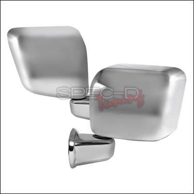 Spec-D - Jeep Wrangler Spec-D Side Mirror Cover - Chrome - RMC-WRG07CR