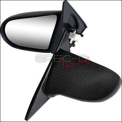 Spec-D - Honda Civic 2DR Spec-D Spoon Style Mirror - Carbon Finish Power Adjusting - RMS-CV012CF-P