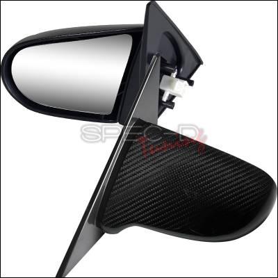 Spec-D - Honda Civic 4DR Spec-D Spoon Style Mirror - Carbon Finish Power Adjusting - RMS-CV014CF-P