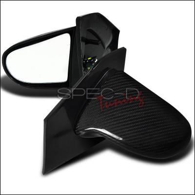 Spec-D - Honda Civic Spec-D Spoon Style Carbon Mirror - Fiber - RMS-CV023CF-P