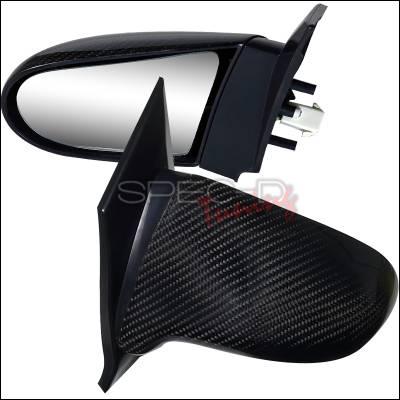 Spec-D - Honda Civic 2DR Spec-D Spoon Style Mirror - Carbon Finish Power Adjusting - RMS-CV062CF-P
