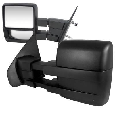 Spec-D - Ford F150 Spec-D Towing Mirrors - Manual Adjustment OEM Type - RMX-F15004-M-FS