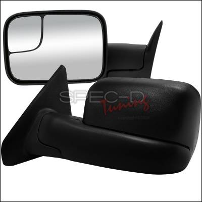 Spec-D - Dodge Ram Spec-D Towing Mirrors - Manual - RMX-RAM02-M-FS