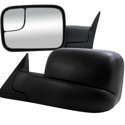 Spec-D - Dodge Ram Spec-D Towing Mirrors - Power - RMX-RAM98H-P-FS