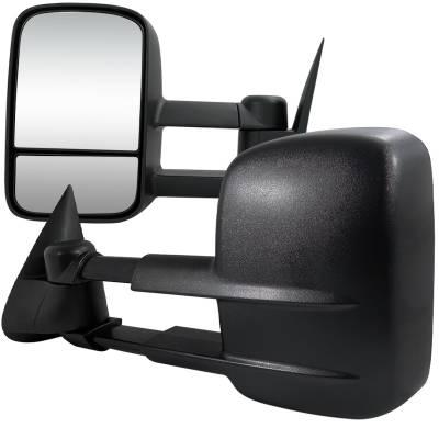 Spec-D - Chevrolet Silverado Spec-D Towing Mirrors - Power - RMX-SIV99H-P-FS