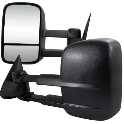 Spec-D - Chevrolet Silverado Spec-D Towing Mirrors - Manual - RMX-SIV99-M-FS
