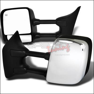 Spec-D - Nissan Titan Spec-D Heated Towing Mirrors- Power - Chrome Cover - RMX-TIT04CRH-P-FS