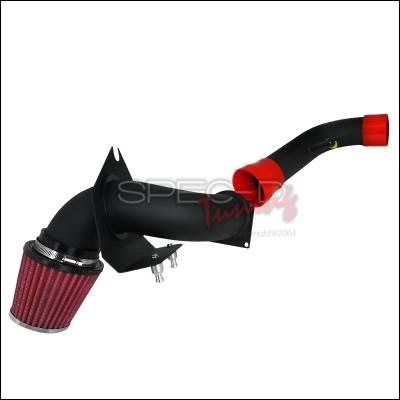 Spec-D - Ford Mustang Spec-D Cold Air Intake Red Filter - Black Pipe - AFC-MST96V8-BR-KM