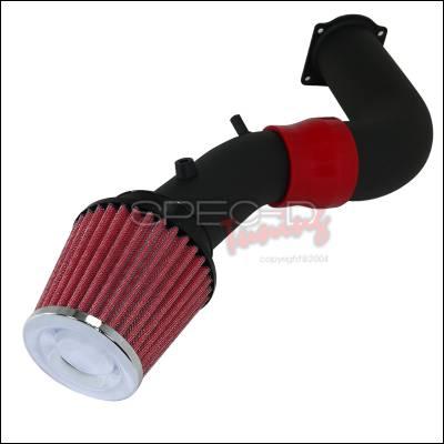Spec-D - Ford Mustang Spec-D Cold Air Intake Red Filter - Black Pipe - AFC-MST99V6-BR-KM