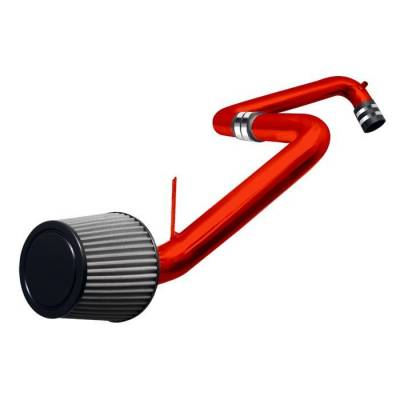 Spyder - Honda Civic Spyder Cold Air Intake with Filter - Red - CP-503R