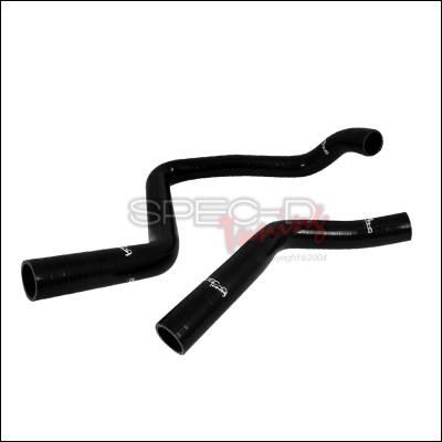 Spec-D - Honda Del Sol Spec-D Silicone Radiator Hose - Black - RAH-S03-1304-LX